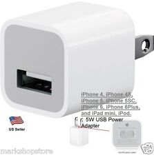 NEW Genuine Original Apple Wall AC Charger Adapter USB Cube 5W iPod iPhone 5/6/7