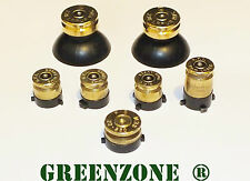 Greenzone ® Xbox One 1 Controller Brass Bullet Buttons + Thumbs + Guide Mod Kit