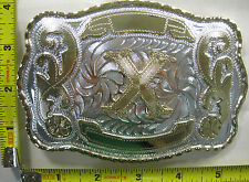 LETTER X METAL BELT BUCKLE INITIAL WESTERN DESIGN COUNTRY COWBOY RODEO NEW B433