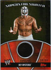 WWE Rey Mysterio 2010 Topps GOLD Superstar Swatch Relic Card SN 24 of 99