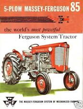 Massey Ferguson Mf85 Operations Manual 100pgs for Mf 85 Tractor Service & Repair
