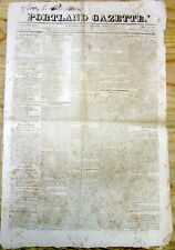1822 PORTLAND Maine newspaper w essay GROWTH of SLAVE POPULATION in SOUTHERN STA