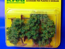 Alberi per modellismo verdi con fiori gialli 6 pz. H.cm. 6,5  HO - 1:87 Krea
