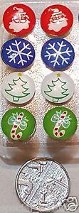 Christmas festive DECORATIVE PUSH PINS THUMB TACKS FOR CORK DRAWING NOTICE BOARD