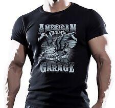 American garage Águila Moto Bicicleta Chopper varilla para hombre T Shirt Tees