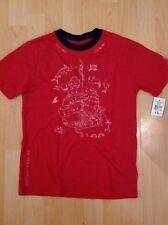 Polo Ralph Lauren Niño Rojo Con Banda De Cuello Azul Marino Camiseta durante 8 Años BNWT