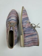 NEW $150 Kelsi Dagger 10 Pink Purple Abstract Suede Leather Ankle Bootie Shoes