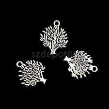50pcs Wholesale Tibet Silver Tree of Life Charms Beads Pendants DIY Necklace