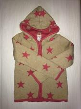 GYMBOREE SWEATER JACKET SIZE S 5 6 GOLD WITH PINK STARS HOODIE FULL ZIP GIRLS