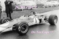 Jim Clark Gold Leaf Team Lotus 48 Hockenheim F2 1968 Photograph 14