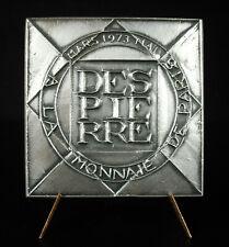 Médaille Jacques DESPIERRE peintre cubiste à la Monnaie de Paris, 1973 cubisme