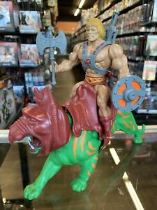 1981 He-man & Battle Cat Masters of the Universe Vintage Lot Mexico Complete 2