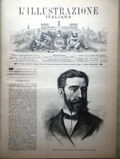 L'illustrazione Italiana 11 Dicembre 1887 Carnot Ferrero Rivoluzione a Palermo