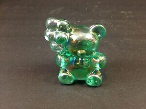 BOYD ART GLASS  GREEN CARNIVAL PATRICK BALLOON  BEAR FIGURINE   g14