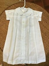 ALEXIS infant Day Gown Light Blue Scalloped Trim Embroidery - Christening 3M