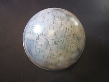 Vintage Chein Metal Lunar Globe 1:15,000,000 Scale Moon Gravity Rotation