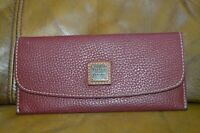 Dooney And Bourke Pebble Leather Flap Wallet 1975