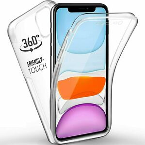 CLEAR 360 Case Front Back Silicone Shockproof Cover For iPhone 13 Pro Max 12 11