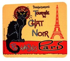 "Mouse Pad - ""Tournee du Chat Noir"" - Vintage French Poster - w/Eiffel Tower"