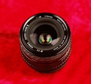 SIGMA SUPER WIDE II 1:2.8 F2.8  24mm MULTI COATED MADE IN JAPAN LENS FOR NIKON
