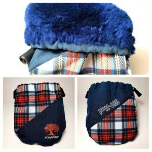 Rare Karsten Ping/PGA West Embroider Vintage Plaid Golf Ball Bag Red/White/Blue