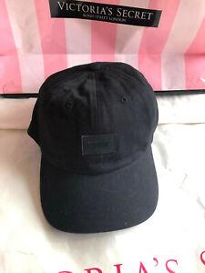 Victoria's Secret Pink Baseball Hat Cap Pure Black NWT