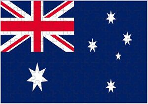 Australia Flag A4 JIGSAW Puzzle Birthday Christmas Gift (Can Be Personalised)