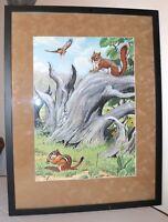 vintage original Jacob Bates Abbott nature wilderness illustration painting art.