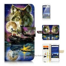 ( For Optus X Sleek ) Wallet Case Cover P21448 Wolf