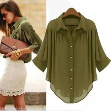 Unbranded Chiffon Solid Button Down Shirts for Women