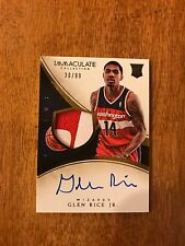 GLEN RICE JR. 2013-14 Panini Immaculate Collection AUTO PATCH RC #/99 RPA Rookie