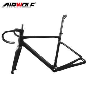 Full Carbon Fiber Gravel Bicycle Frame Cyclocross Bike Frameset with Drop Bar