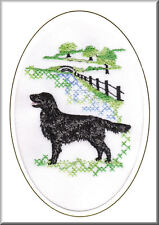 Flatcoated Retriever Birthday Card Embroidered by Dogmania
