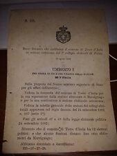 REGIO DECRETO 1891 COST COMUNE TORRE D'ISOLA IN SEZ AUT PAVIA cita MARCIGNAGO