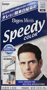 Bigen Mens Speedy 102 Brown Black No Mix Japan Hair Color Cover Gray