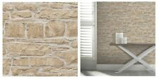 Arthouse Church Stone Natural Brick Wall Grey Brown Wallpaper 697100 SAMPLE ONLY