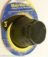BOAT MOTOR WELL RUBBER CABLE BOOT 3 INCH ADJUSTABLE W/TIE WRAP, MARPAC 7-0677