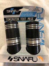 "Snafu Dominator Foot Pegs Black New In Box  For 3/8"" X 26 Threaded Axle"