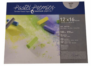 Pastel Premier Sanded Pastel Paper, 12 x 16 Inches, Medium Grit, White, 145 lb,