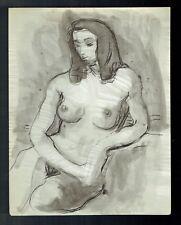 D25 - Dessin d'Etude Encre de Chine - Femme Nue - vers 1950