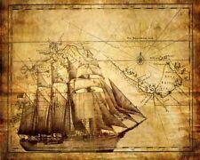 'Mappa antica quadro - Stampa d''arte su tela telaio in legno'