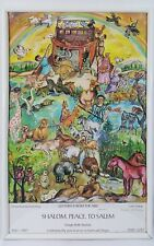 """RENATE DOLLINGER HAND SIGNED """" GO FORTH FROM THE ARK """" PRINT"""