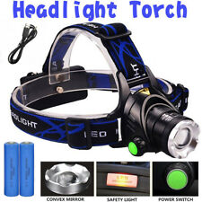 Zoomable XML T6 LED Rechargeable Head Torch Headlamp Headlight 18650 uk 12000LM