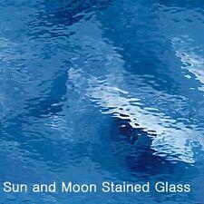 "8X10"" Spectrum Glass Sheet S 132W Light Blue WaterglassStained Glass Sheet"