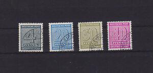 SBZ - MiNr. 127 z, 134 z, 135 z, 136 z  gestempelt