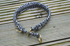 Paracord Dog Collar Brass Fittings - Half Choke, King Cobra