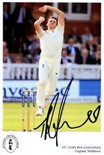 Signed Classic Cricket Card No. 547 Toby Roland-Jones