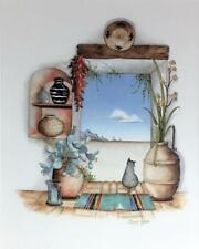 Carol J Green FRAMED MATTED Southwestern TEX MEX Spanish Lithograph Watercolors