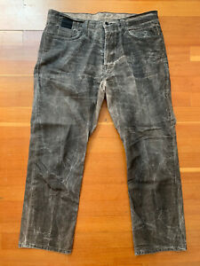 Slab By Rick Owens 36x30 Jeans MCA2011 Wax Coated Straight Leg Black Candle