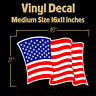 "American Flag USA 16x11"" Decal Sticker United States of America Waving Flying"